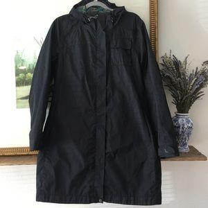 Lole Rain Jacket Coat Long Wind Waterproof Hooded